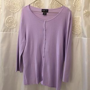 Style & Co Lavender Sweater